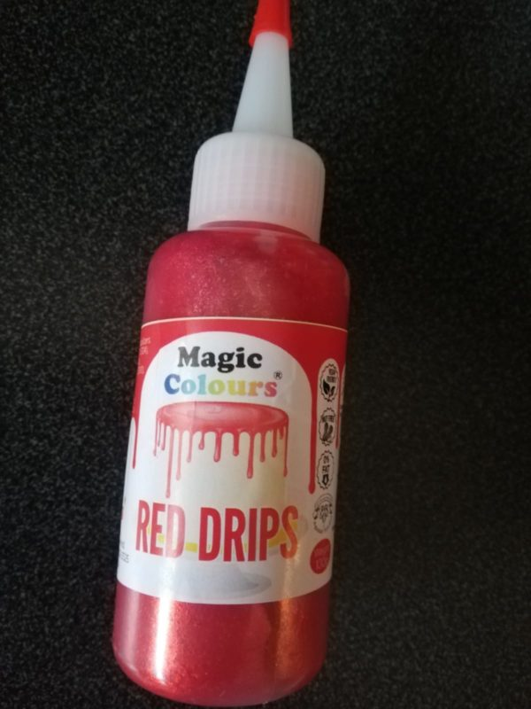 magic Colours ready made icing drip red