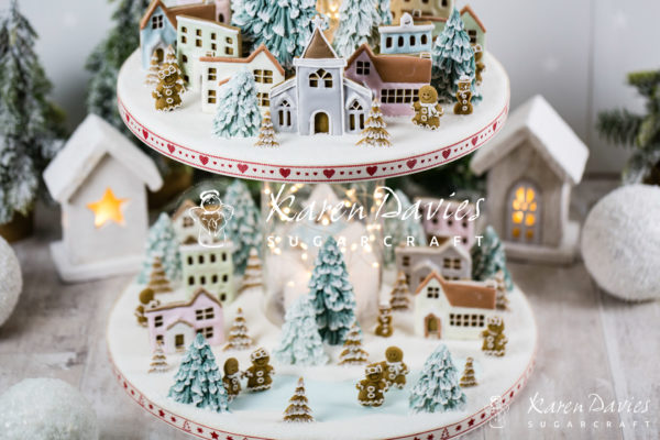karen davies winter village mould 5